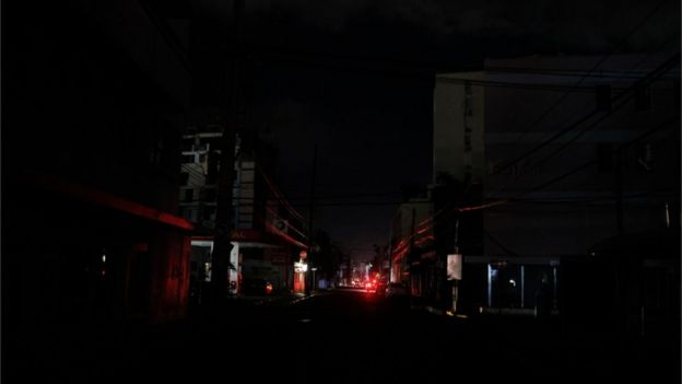 Streets without power