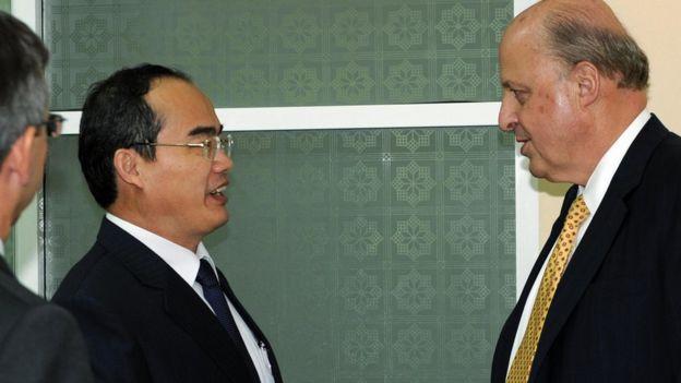 Phó Thủ tướng Nguyễn Thiện Nhân đón Thứ trưởng John Negroponte sang thăm Việt Nam năm 2008