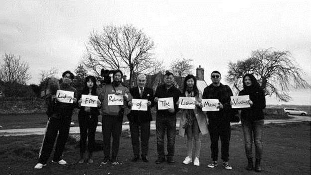 今年二月,方勵一行赴英尋找里斯本丸遇難者後人。