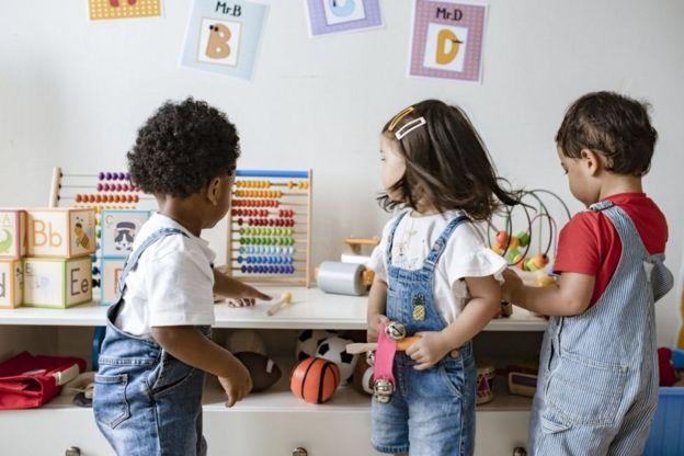 Niños en un preescolar.