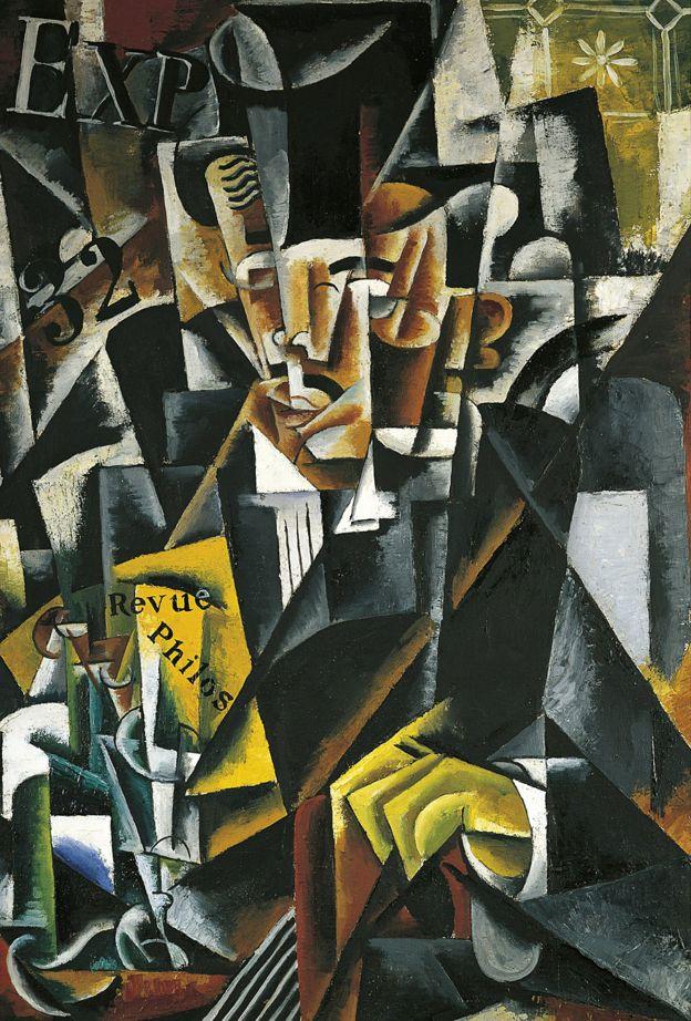 """'O filósofo"""", obra de Lyubov Sergeyevna Popova (1889-1924)"""