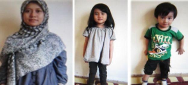 Nur Fatihah, kızı Aynul Ammara ve oğlu Aynul Ammar Assadullah