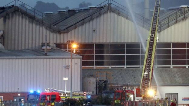 crews tackle blaze