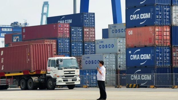 Tianjin port in China