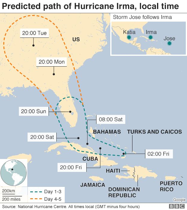 Hurricane Irma pummels Turks and Caicos islands BBC News