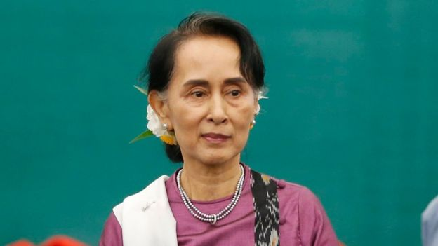 Aung San Suu Kyi de facto leader of Myanmar