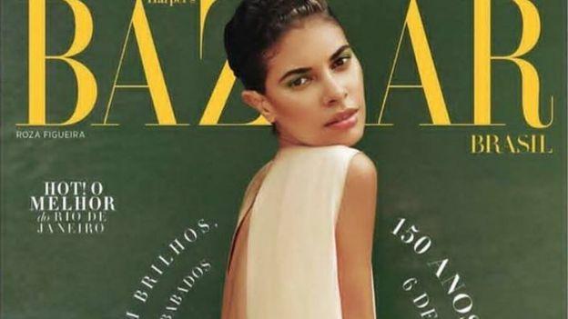Roza Figueira na capa da Harper's Bazaar