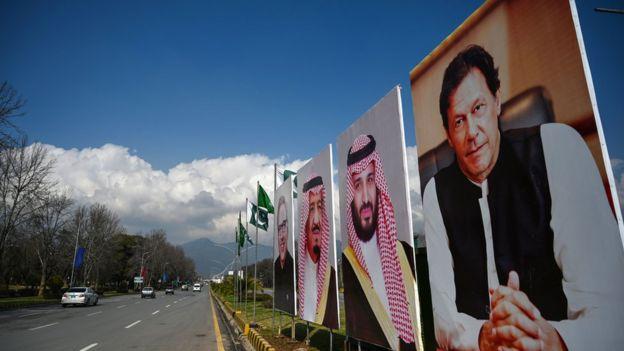 صور لابن سلمان وعمران خان