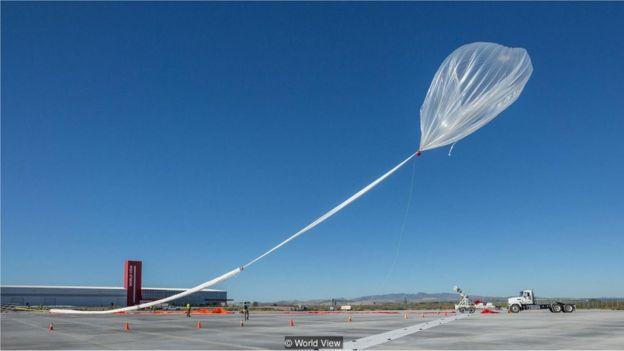 Balão sendo inflado