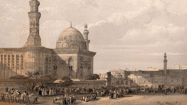 لوحة مشهد من القاهرة