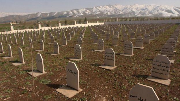 Cementerio masivo en Halabja