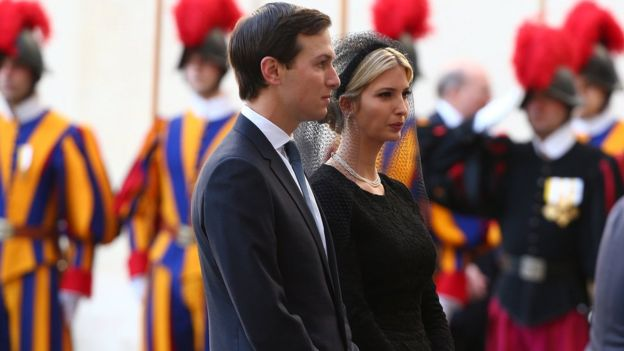 Ivanka Trump and Jared Kushner at the Vatican