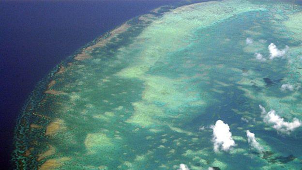 A grande barreira de corais, na Austrália
