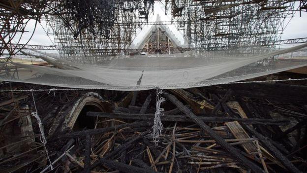 Scaffolding in Notre Dame