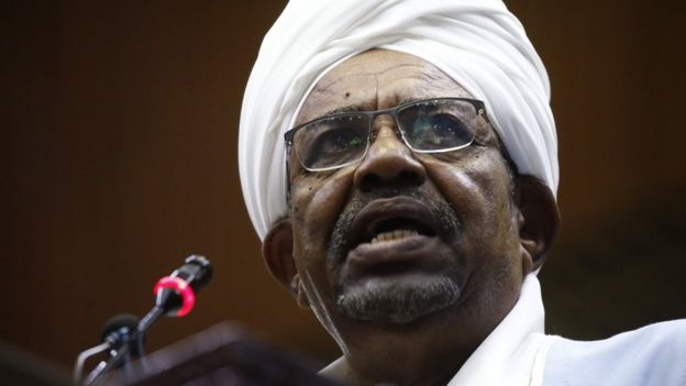 Omar al-Bashir on 1 April 2019