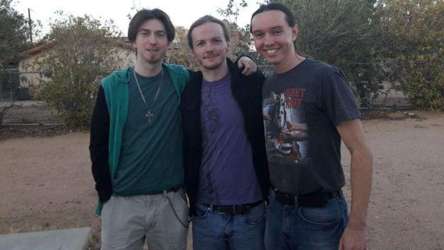 Los miembros de la banda de Threatin.