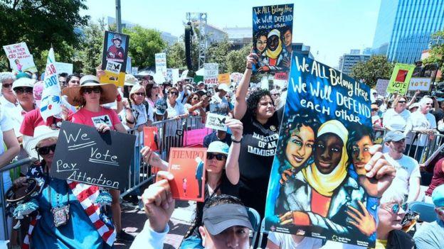 Protesta el pasado 30 de junio en Los Ángeles contra la política migratoria de Trump.