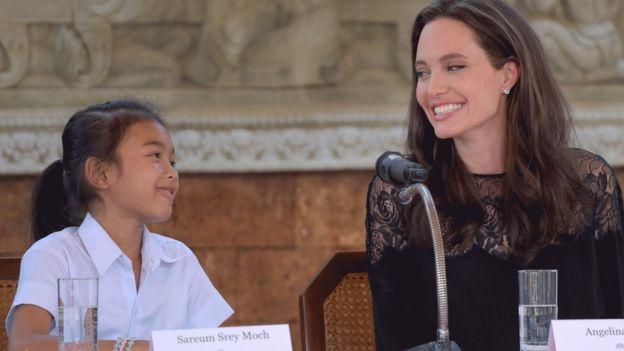Angelina Jolie with Sareum Srey Moch