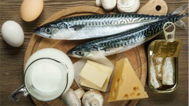 Peixes, ovos e laticínios