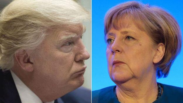 Trump iyo Merkel