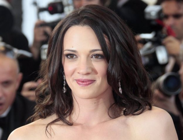 Italian actress and director Asia Argento poses upon her arrival for the opening ceremony and the screening of 3D animated movie