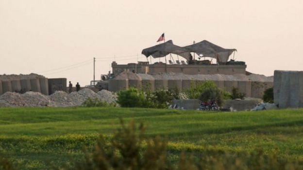 قاعدة عسكرية أمريكية في شمالي سوريا، صورت في أبريل/ نيسان الجاري 2018