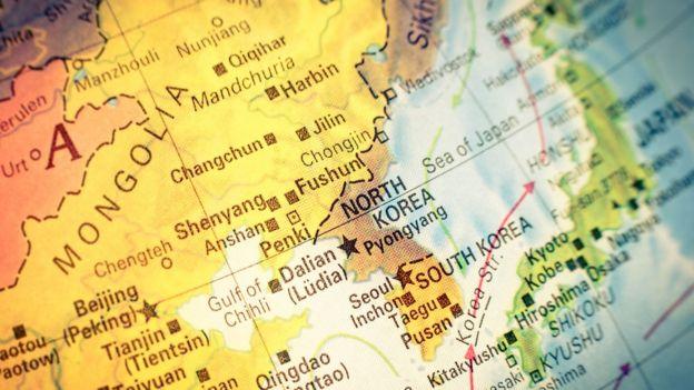 Mapa de Corea.