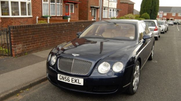 Bentley pictured by police