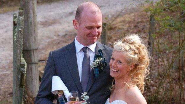 Chris Lemons y su esposa, Morag.