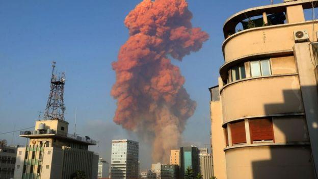 Patlamanın ardından yükselen dumanlar