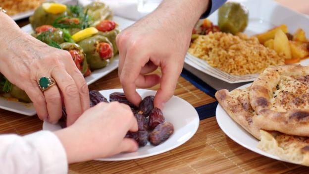 Dates being eaten
