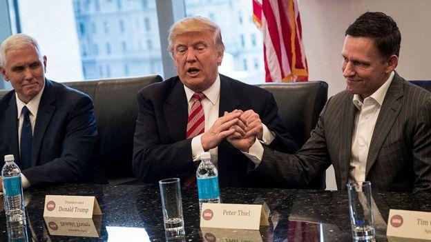 Trump y el fundador de Netflix