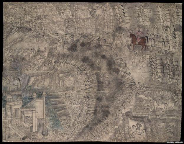 पानीपत के युद्ध का चित्रण