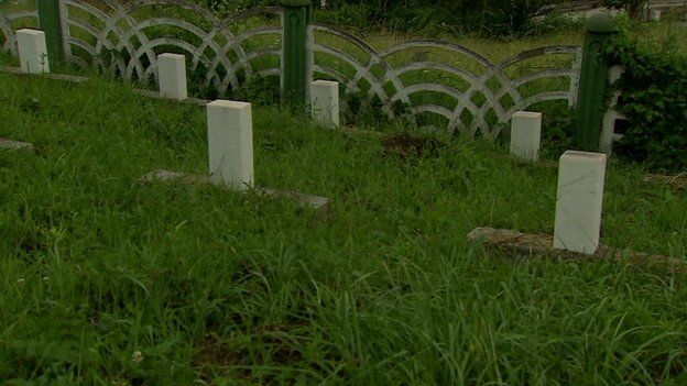 Tombstones of foreign fighters in Bosnia