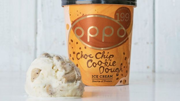 A tub of Oppo ice cream