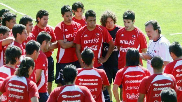 Marcelo Bielsa con Chile
