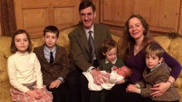 Jacob Rees-Mogg and family