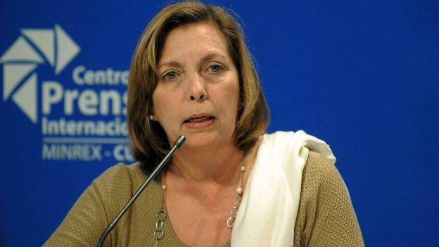 La embajadora cubana en Canadá, Josefina Vidal
