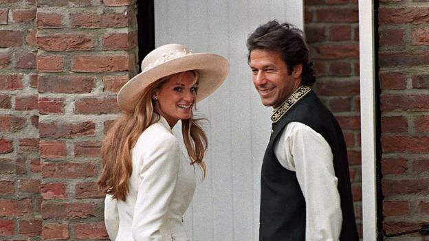 Jemima Goldsmith e Imran Khan
