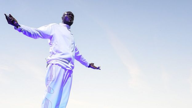 Stormzy performing at Wirless Festival