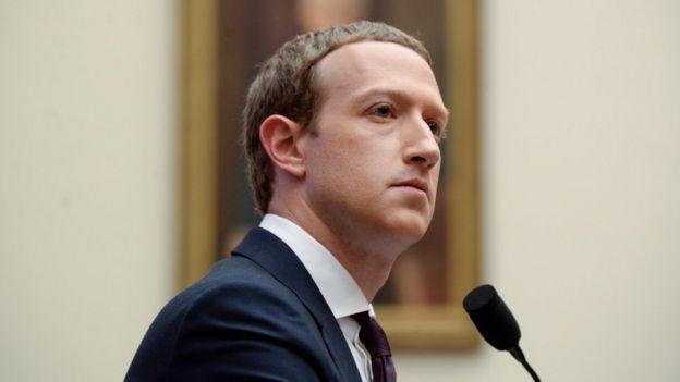 Mark Zuckerberg em depoimento no Congresso dos EUA