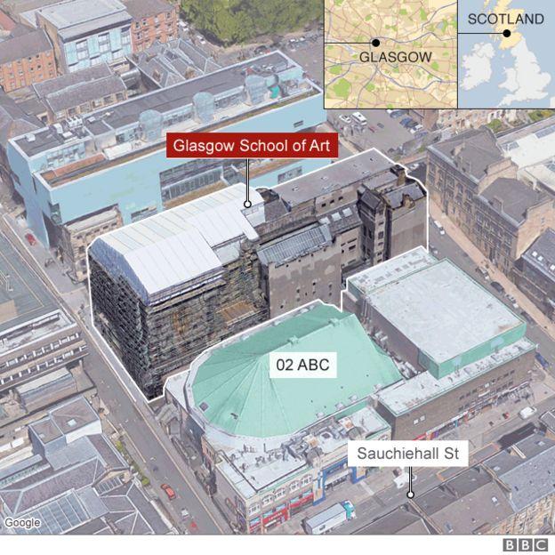 Map of Glasgow School of Art