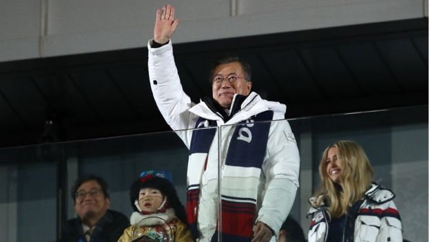 Presidente surcoreano Moon Jae-in.