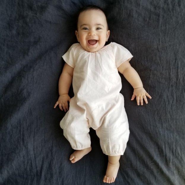 Leena Yousefi's seven-month-old baby girl.