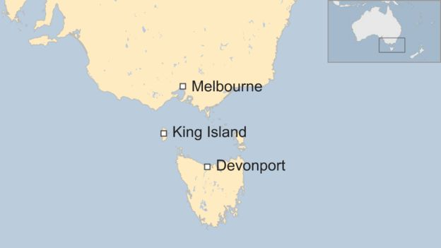 Map Of Australia King Island.Asleep Pilot Missed Destination In Australia Officials Say Bbc News