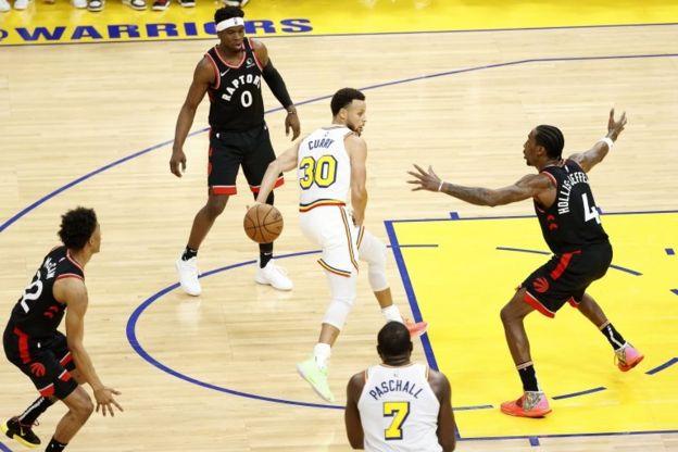 Un juego de la NBA