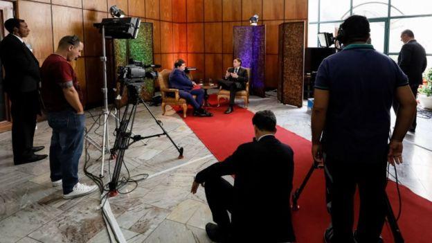 Bolsonaro em entrevista a Datena