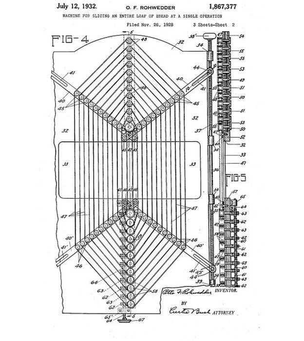 Patente de la máquina de Rohwedder