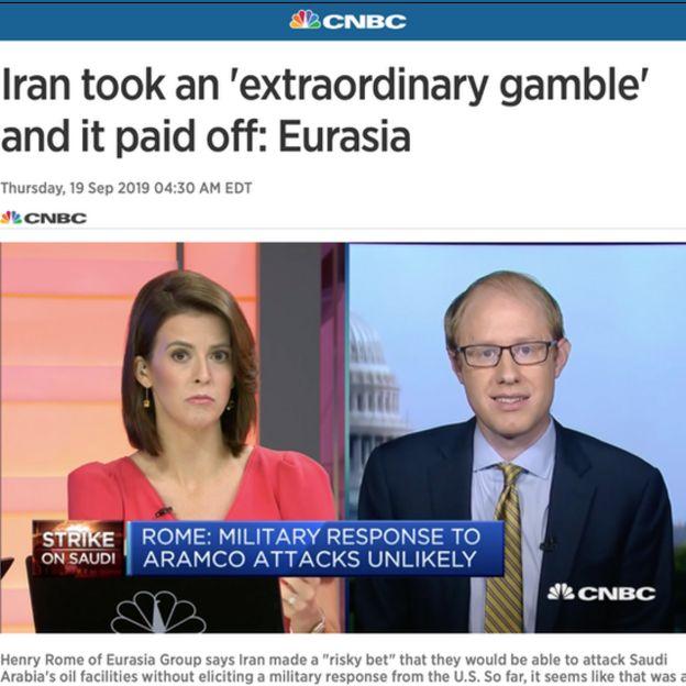 هنری رم، تحلیل گر موسسه یورویشیا به سیانبیسی گفت ایران قمار بزرگی کرد که به نظر میرسد تاکنون برنده آن شده