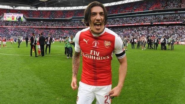 Beki wa kulia wa Arsenal Hector Bellerin